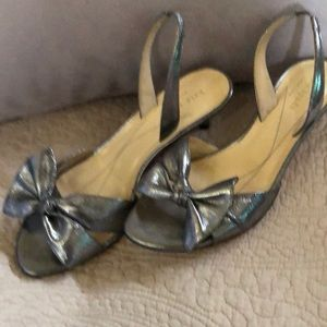 Silver heel sandal